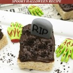 Graveyard Rice Krispie Treats Spooky Halloween Recipe Tutorial