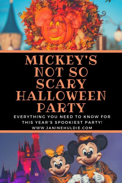 Everything Happening At This Years Mickey's Not So Scary Halloween Party