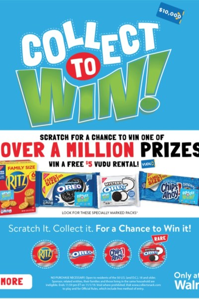 Ritz Collect To Win with RITZ, OREO & Chips Ahoy
