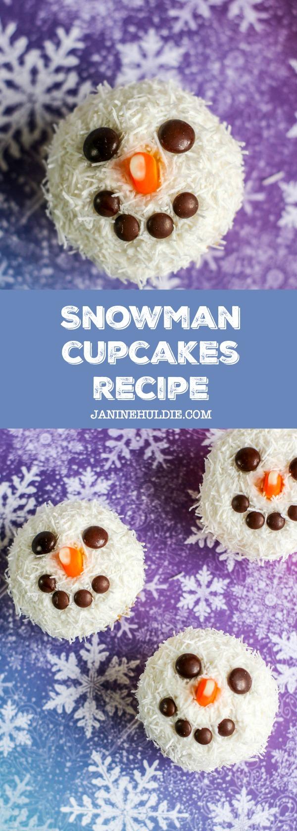 Snowman Cupcakes Recipe