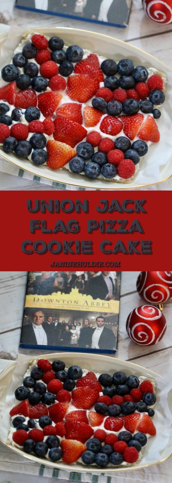 Union Jack Flag Pizza Cookie Cake 2