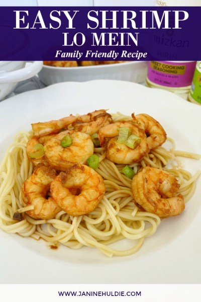 Easy Shrimp Lo Mein Recipe Featured Image
