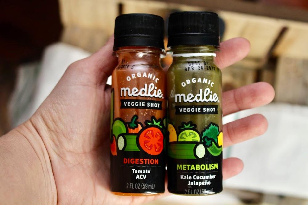 Medlie Veggie Shots in Hand