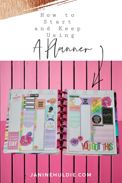 How to Use a Planner and Keep Using It