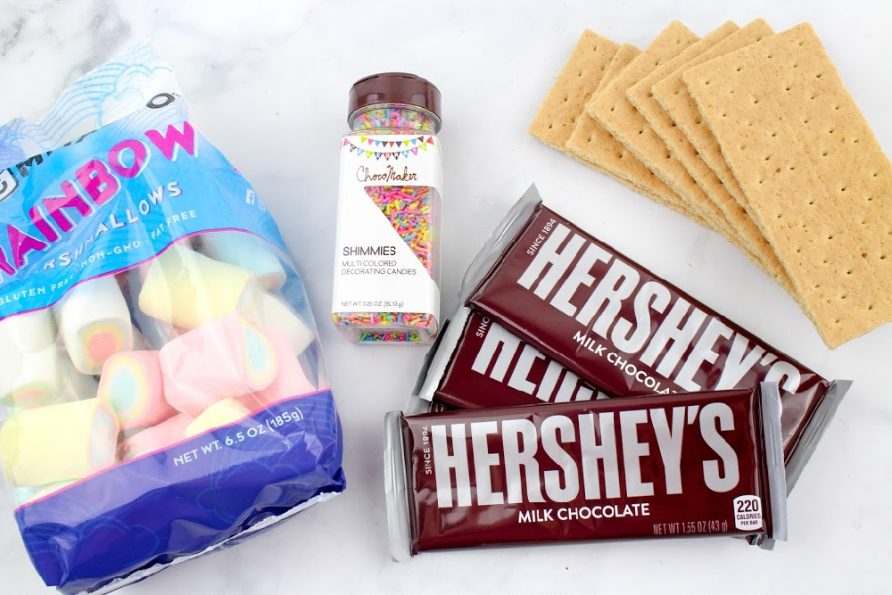 Rainbow Smores Dip Ingredients