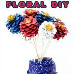Patriotic Pinecone Floral DIY Decor Display