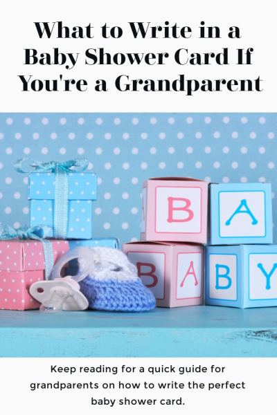 Baby Shower Card Advice for Grandparents