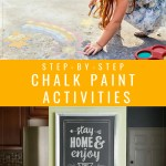 Homemade Chalk Paint Activities