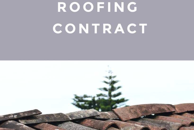 Roofing Contract Job
