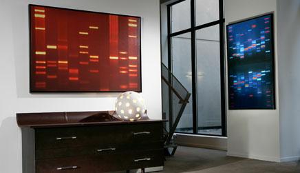 dna-portrait-living-room-wall