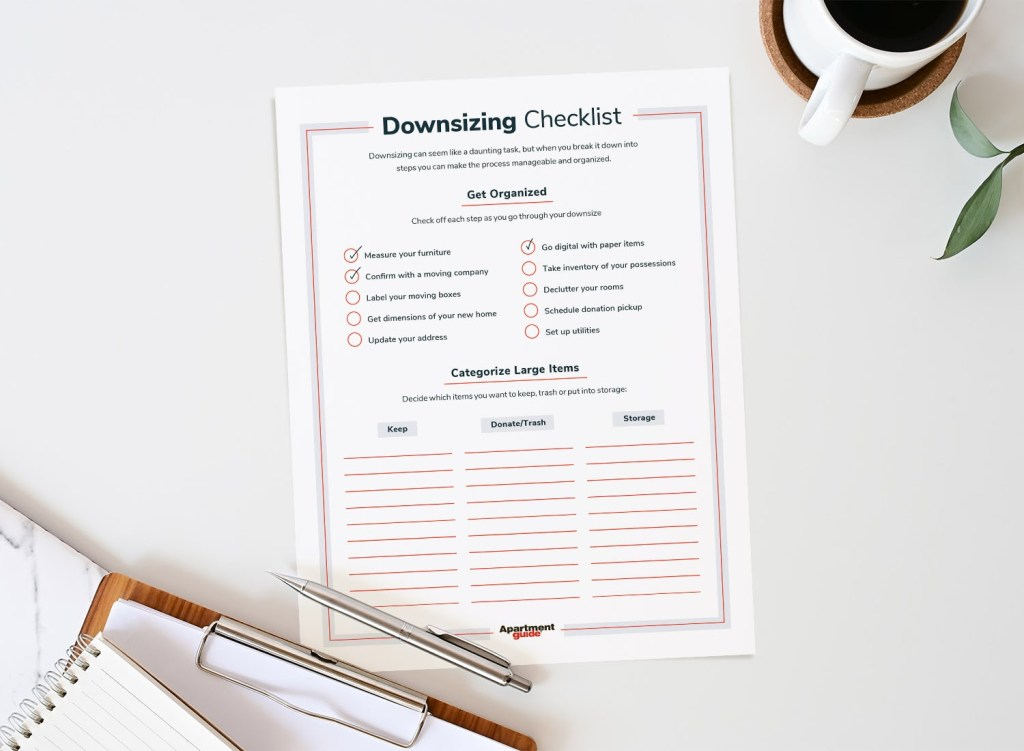 Downsizing Checklist