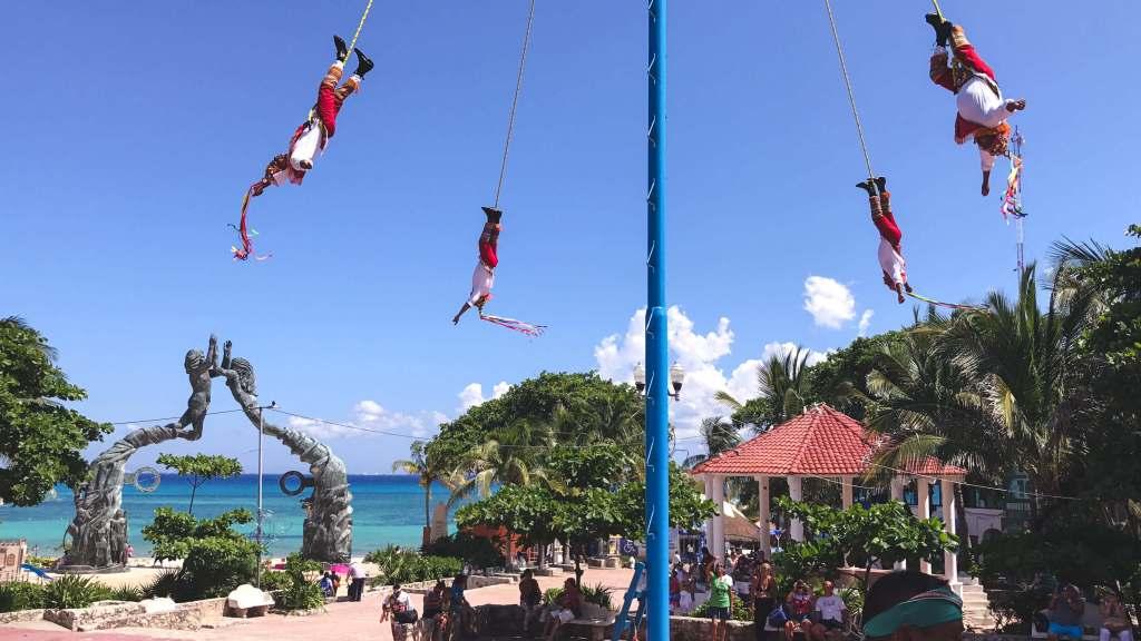 The danza de los voladores is an ancient Mesoamerican ritual.
