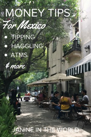 Everything you ever needed to know about managing money in Mexico.  Click through to learn which ATMs are the best, how to tip properly, when to haggle over prices, and more. #mexico #travel #mexicotravel #traveltips