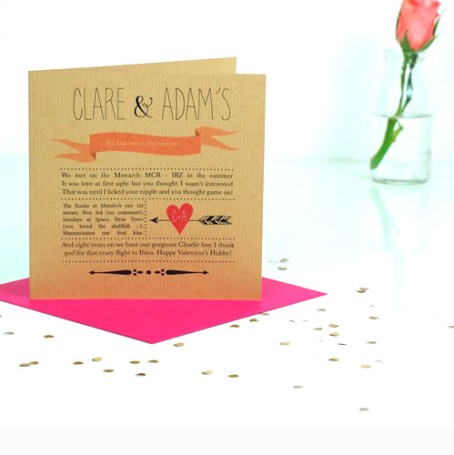 Personalised love story Our Story Valentines Card