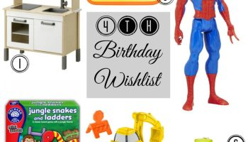 4th Birthday Gift Ideas