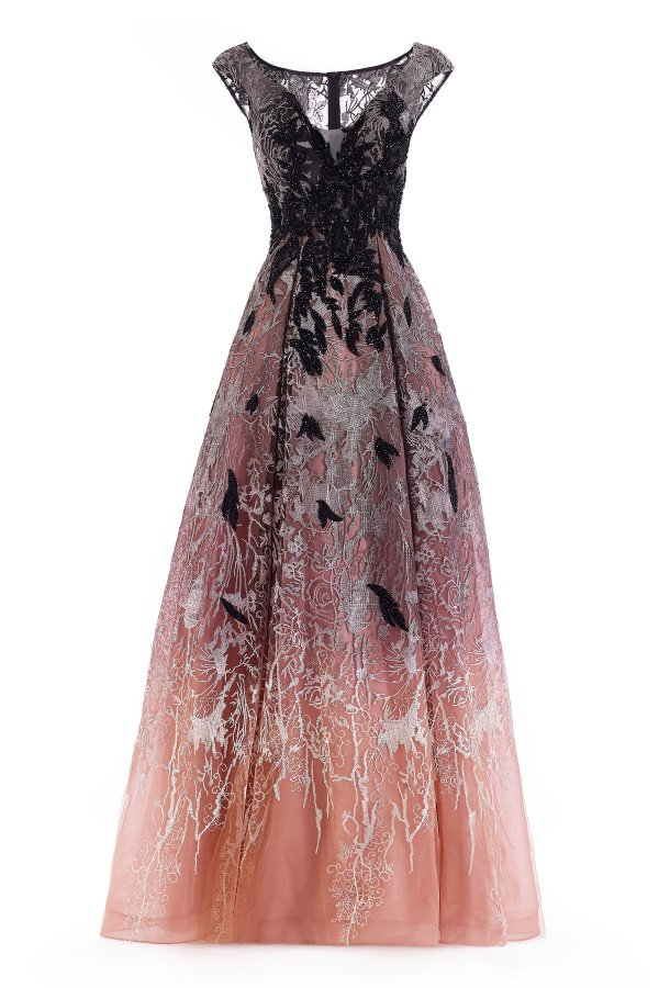 ombre evening gown