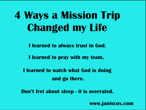 4 Ways a Mission trip Changed my LIfe