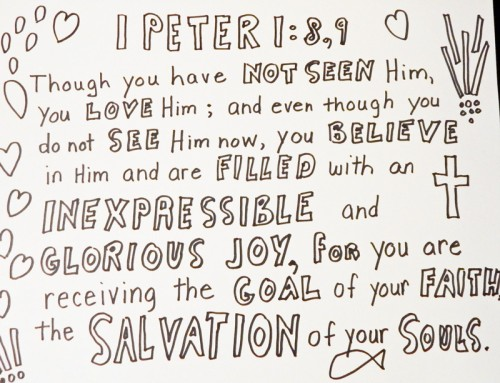 1 Peter 1:8-9colouring page