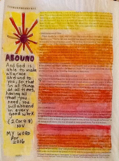 2 Corinthians 9-8 Bible Painting