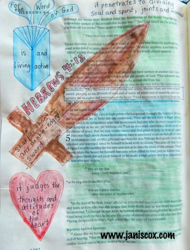 Bible painting Hebrews 4:12