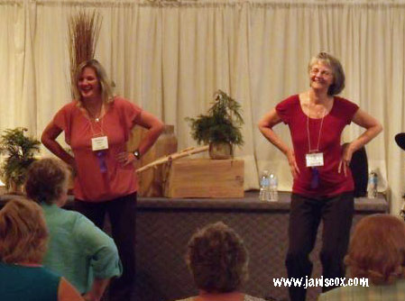KImberley Payne leading class with -Janis-Cox