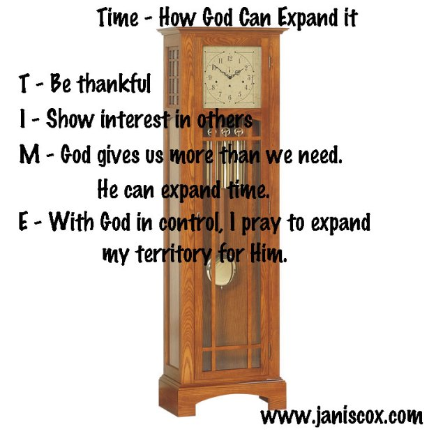 Time - How God Can Expand it