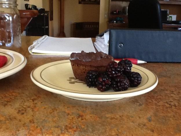 Mmm chocolate paleo cupcake