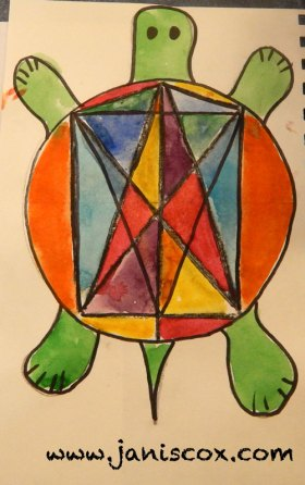 Stained Glass WAtercolour tadeo Turtle