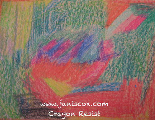 Crayon Resist - Colour Heavy