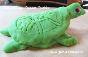 playdough - finished Tadeo Turtle playdough