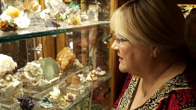 Susan and pyrite-fluorite 2016