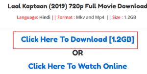 laal kaptaanfull movie download