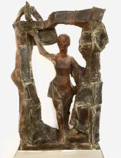 Vrouw onder poort
