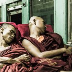 sleeping monks