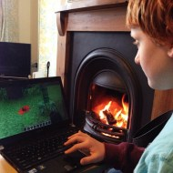 I agreed to let me son explain Minecraft to me …. at least by a cosy fire at the cottage …. HELP!