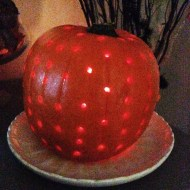 Did some pumpkin drilling instead of carving this year – it was fun even if result not that outstanding!