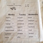Spellings….love them or hate them? These are my son's spellings this week!