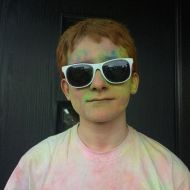 Colour Run for charity at school today