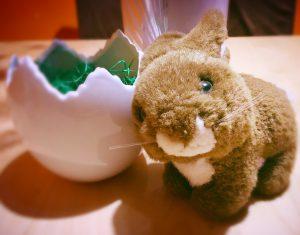 Ostereiersuche - wie heißt dieser Hase.