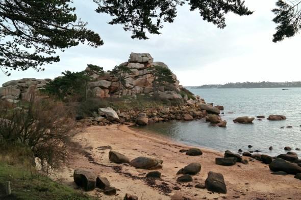 Rosengranit-Küste Bretagne