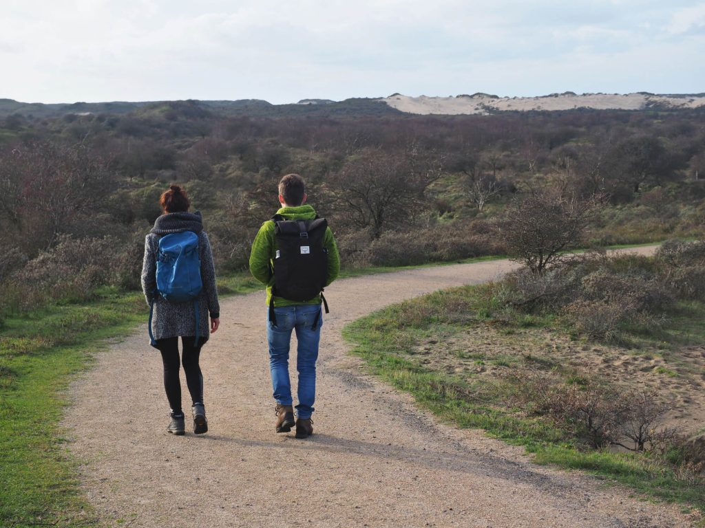 Wandelen in Nationaal Park Zuid-Kennemerland met Osprey rugzakken
