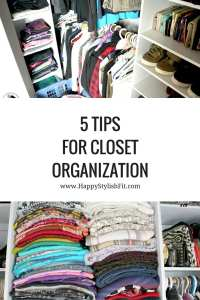 Pin now, save for later! Keep your closet clean and organized with these 5 tips for closet organization.