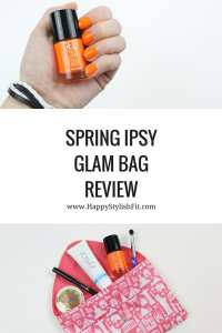 Curious of what's in the Ipsy beauty bag? Click to find out what's inside with this spring ipsy glam bag review.