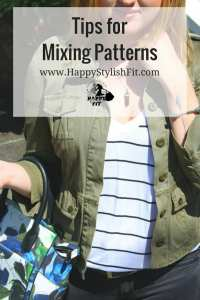 Styling tips for lokking put together when mixing patterns for cute outfits.