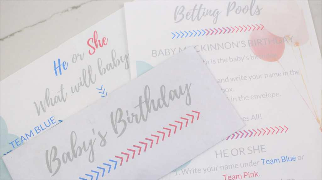 Gender Reveal Party tips and tricks including fun game ideas.