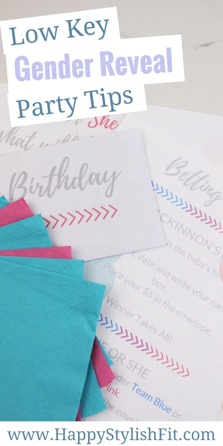 Low key gender reveal party tips to have fun with the whole family without breaking the bank or going over the top.