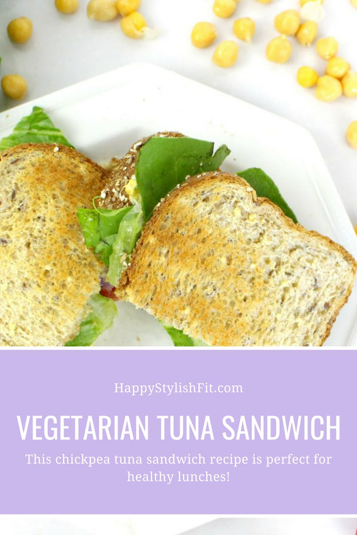 The vegetarian tuna sandwich you will love. This chickpea tuna sandwich recipe is perfect for healthy lunches, any vegetarian or vegan would agree!