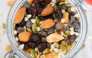 Sweet and salty trail mix to satisfy your cravings with a healthy snack.