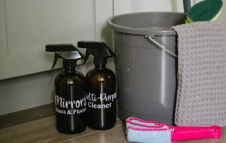 6 DIY Thieves household cleaner recipes to clean your home with non-toxic cleaning products.