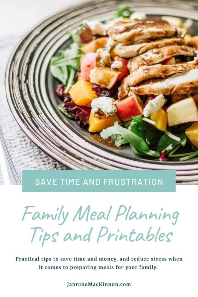 Meal Planning Tips for Families with Free Printable